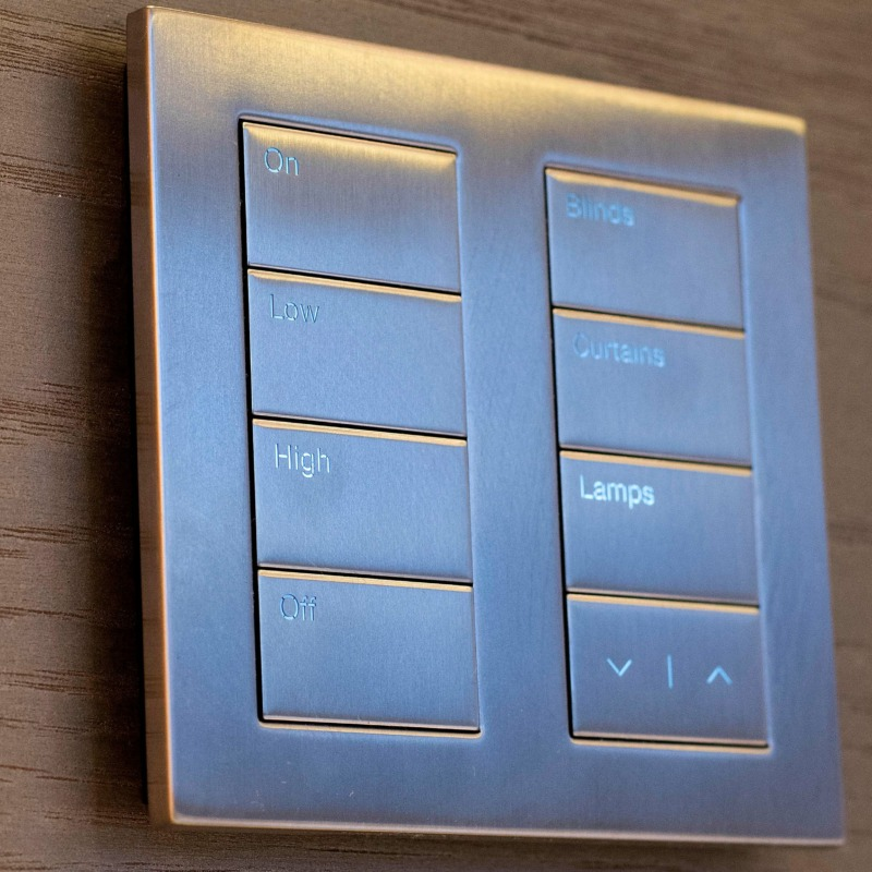 Subtle Home Technology: Engraved Keypads